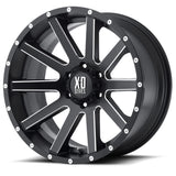 KMC XD818 HEIST 18x8 Satin Black Milled Alloy Mag Wheel , Jeep etc
