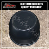 BLACK WHEEL CENTRE CAP- 74MM.  SUIT HT STEEL WHEELS