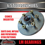 6 stud trailer hubs 6/114.3 suit D40 NP300 with L/M bearings