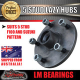 pair 5 stud trailer hubs 5/139.7 suit F100 & Suzuki with LM bearings