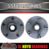 x2 trailer hubs 5/139.7 suit F100 & Suzuki with S/L Japanese KOYO bearings
