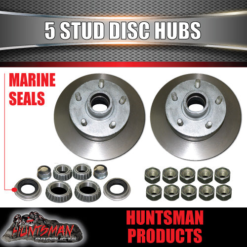 DIY 1400kg Boat Jetski Trailer Kit Hydraulic Disc. Slipper Springs, Stub Axles
