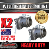 x2 Jack Stand Weld on Mount, Solid Hinge Bracket suit 65mm