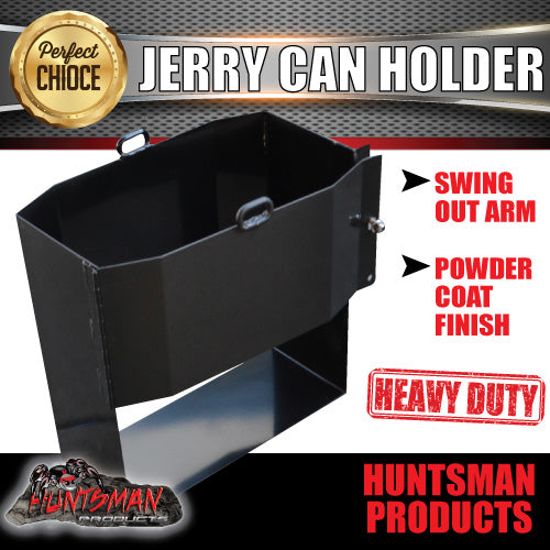 20 Litre Jerry Can Holder Front Opening Black Powdercoat Finish