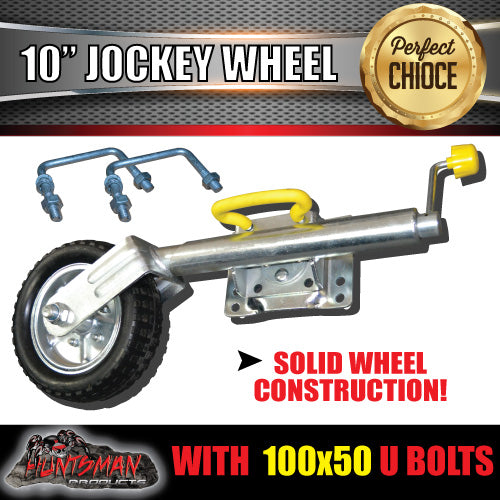 "10"" Swing Up Jockey Wheel & 100x50mm U bolts"