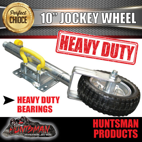 "10"" JOCKEY WHEEL.  SWING UP. SOLID WHEEL. 1000kg rated"