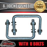 "8"" Swing Up Jockey Wheel & 50x50mm U bolts"