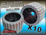 "x10 BOAT TRAILER WOBBLE ROLLER. 4"" WITH 25MM BORE"
