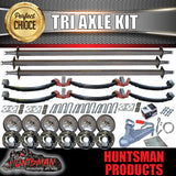 "DIY 4200Kg Tri Axle Trailer Kit 10"" Electric Brakes 45mm Axles, R/Roller"