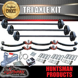 DIY TRI AXLE TRAILER KIT. 4500KG RATED.  2 TONNE AXLES