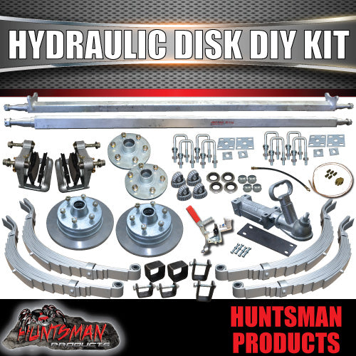 "DIY 2000Kg Hydraulic Disc Braked Boat trailer Kit. 12"" L/C Discs. Slipper Spring"