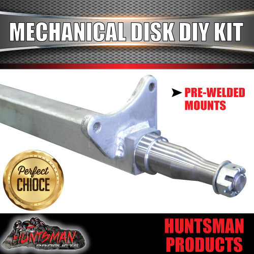 DIY 2000Kg Mechanical Disc Braked Boat trailer Kit. Gal Axles, Slipper Springs