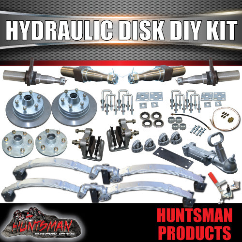 "DIY 2000Kg Hydraulic Disc Boat trailer Kit. 12"" L/C DISCS, Stub Axles"