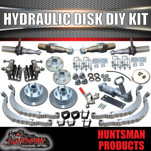 "DIY 2000Kg Hydraulic Disc Braked Boat trailer Kit. 12"" L/C Discs. Stub Axles"