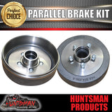DIY TRI AXLE TRAILER KIT. ELECTRIC  BRAKES. 4500KG RATED . 50MM PARRALLEL AXLES