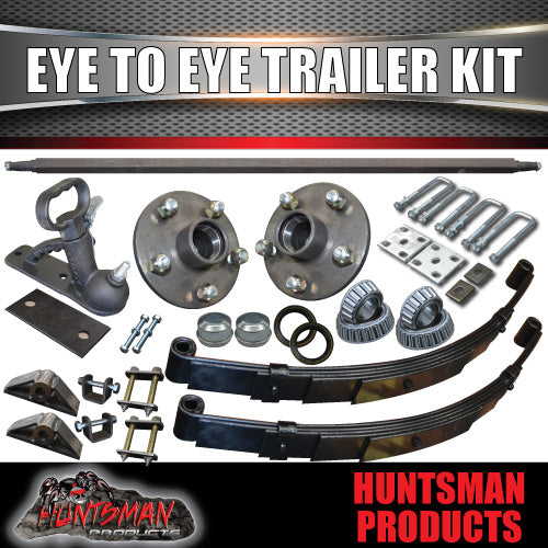 "EYE TO EYE DIY SINGLE AXLE TRAILER KIT. 1000KG.  81"" - 96"""