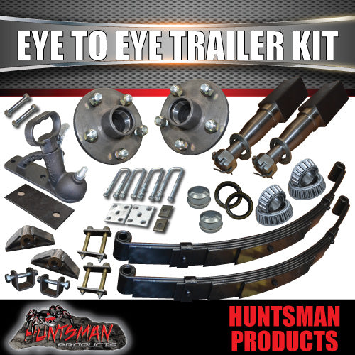 EYE TO EYE DIY SINGLE AXLE TRAILER KIT. 1000KG RATED. STUB AXLES