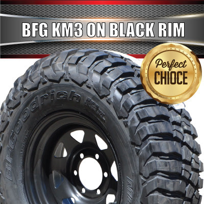 225/75R16 L/T BF GOODRICH KM3 ON 16