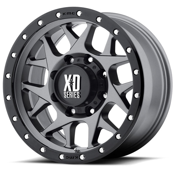 KMC XD BULLY 20x9 Matt Grey Black Ring Alloy Mag Wheel Rim