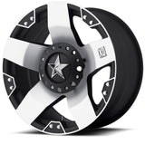 KMC XD 20x8.5 ROCKSTAR Matte Black Machined Alloy Mag Wheel