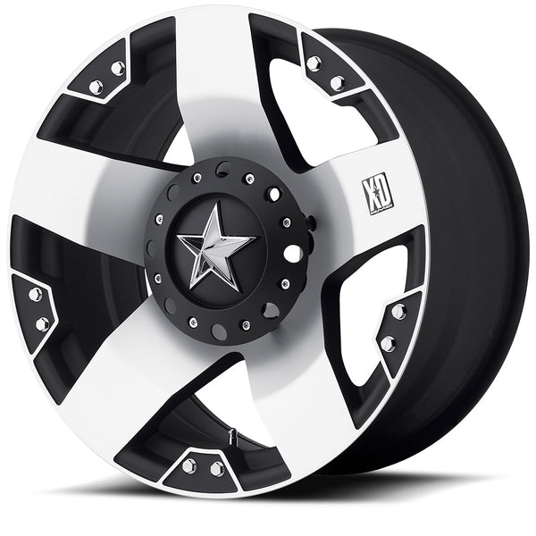 KMC XD 18x9 ROCKSTAR Matte Black Machined Alloy Mag Wheel