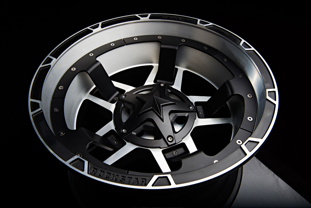 KMC XD ROCKSTAR 3 17x8 Matte Black Machined Alloy Mag Wheel