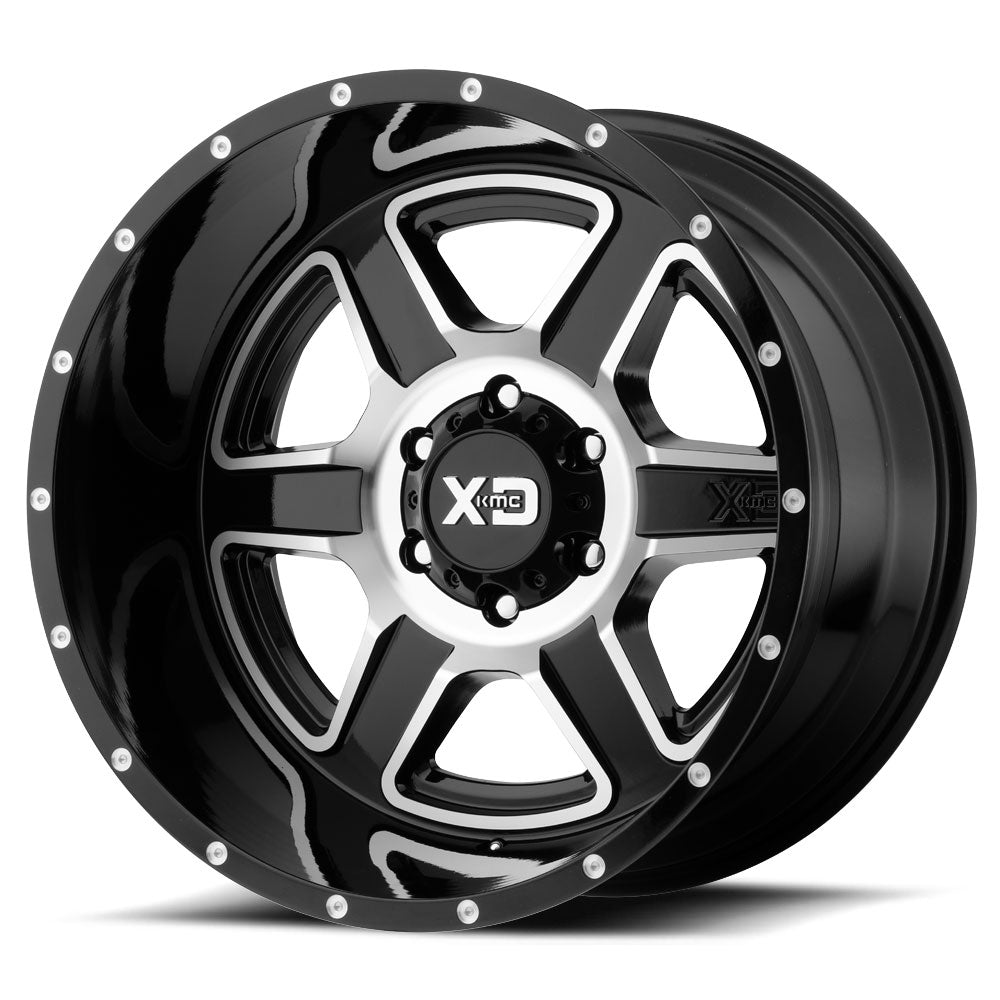 KMC XD832 FUSION 18x9 6/139 Black Machin Alloy Mag Wheel Rim