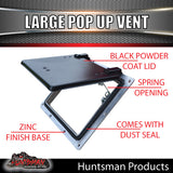 X1 Large black pop up ROOF AIR VENTS