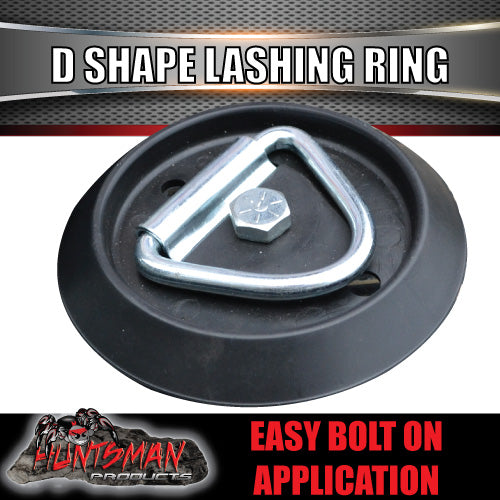 2X Lashing D Ring Tie Down Point & Plastic Guard