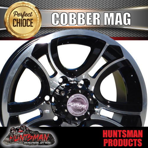 15X8 0 Offset Cobber Mag Wheel 6/139.7 pcd