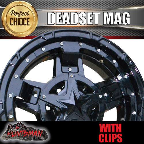 17x9, 0 Offset Deadset Mag Wheel 6/139.7 pcd