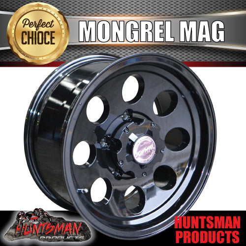 16X8 Mongrel Alloy, Black, 5/150 pcd, 0 Offset suit Landcruiser