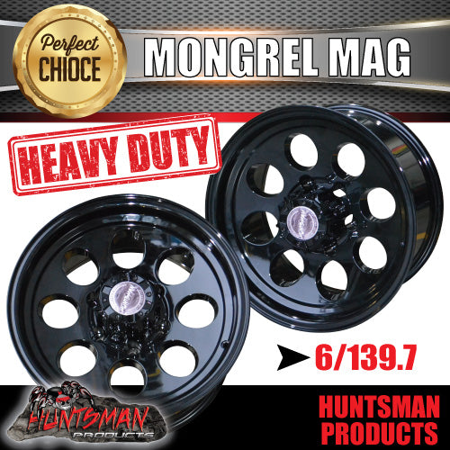 16X8 -22 Mongrel Alloy 6/139.7 pcd Black
