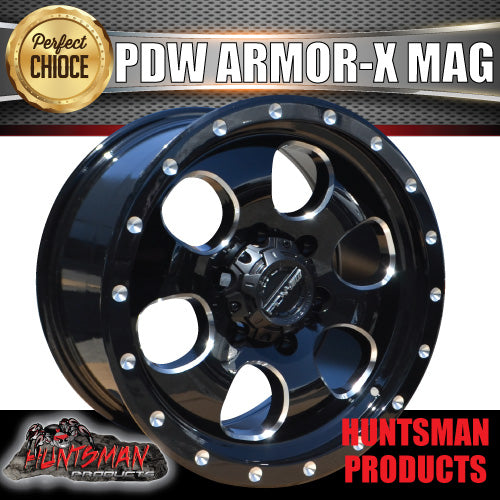 PDW Armor-X 16X8, 6/139.7, +25 Offset Alloy Mag Wheel