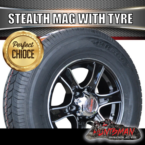 "15"" 6 Stud Stealth Alloy & 195R15C Tyre"