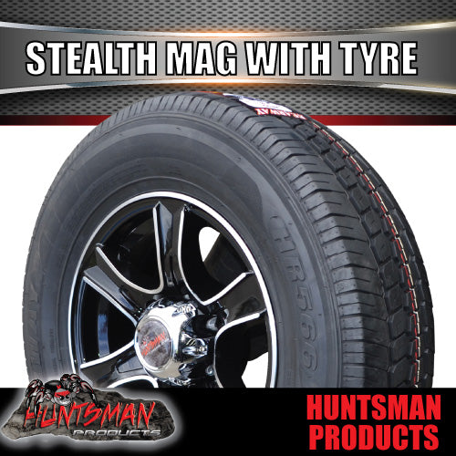 "15"" 6 Stud Stealth Alloy & 195R15C Tyre. 195 15"