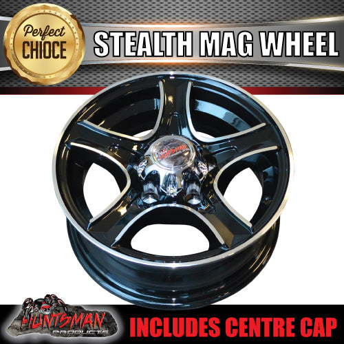 13X5 Stealth Alloy Mag Wheel: suits Ford pattern