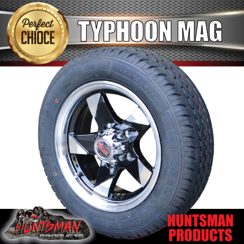 "Low Profile 14"" Typhoon Mag & 175/65R14C LT Tyre: suits Ford. 175 65 14"