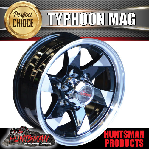 15x6 6 Stud Typhoon Alloy Mag Wheel.