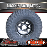 "285/75R16 L/T MAXXIS RAZR MT772 ON 16"" BLACK STEEL WHEEL. 285 75 16"
