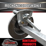 "Galvanised 40mm Square Mechanical Disc Braked Trailer Axle. 1000Kg rated 78""-96"""