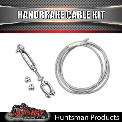TRAILER BRAKE CABLE, CLAMPS & ADJUSTER. ELECTRIC OR MECHANICAL BRAKES