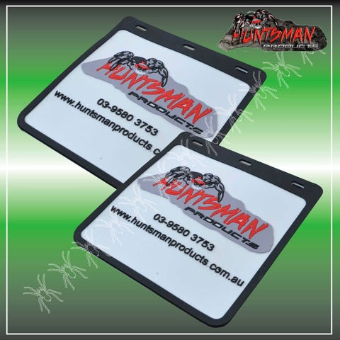 2x LARGE HUNTSMAN PRODUCTS TRUCK TRAILER 4wd & CARAVAN MUD FLAPS