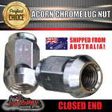 1 x 14x1.5 x 44mm Chrome Acorn Wheel Nut suit Toyota Landcruiser / VE Commodore