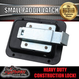 x1 Paddle Handle Lock Latch. Black Powdercoated.