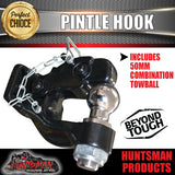 8000kg Pintle hook with combination 50mm tow ball rated 3500kg.