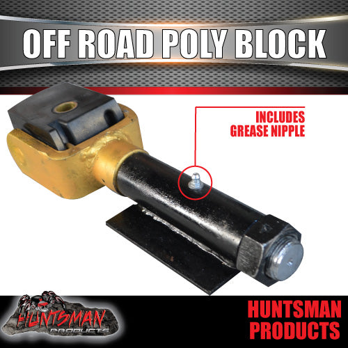 HUNTSMAN OFF ROAD POLY BLOCK COUPLING. HARD CHROME SHAFT!!!