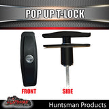 x2 Slim T Handle Pop Up Lock Latch.
