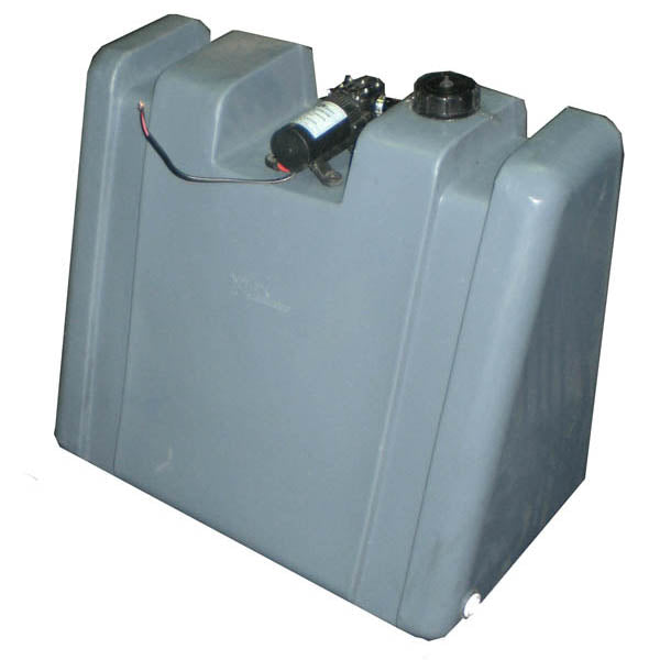 60 LITRE UPRIGHT WATER TANK WITH 12V PUMP