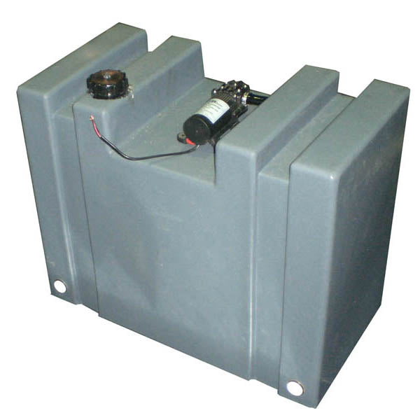 75 LITRE UPRIGHT WATER TANK WITH 12V PUMP